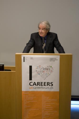 Il saluto del presidente dell'USI, prof. Piero Martinoli